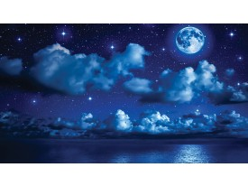 Fotobehang Nacht | Blauw | 416x254