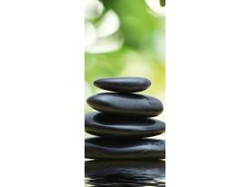 Deursticker Muursticker Stenen | Zwart | 91x211cm