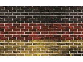 Fotobehang Stenen, Muur | Rood | 416x254