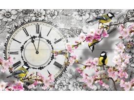 Fotobehang Bloesem, Klok | Grijs | 152,5x104cm