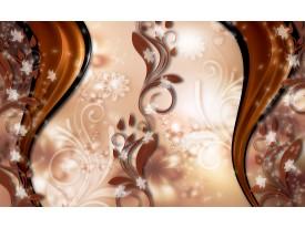 Fotobehang Vlies | Abstract, Bloem | Bruin | 368x254cm (bxh)