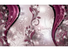 Fotobehang Vlies   Abstract, Bloem   Paars   368x254cm (bxh)