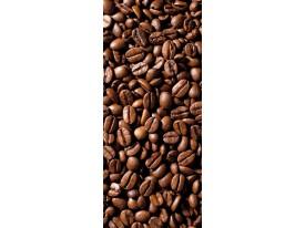 Deursticker Muursticker Koffiebonen | Bruin | 91x211cm
