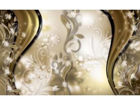 Fotobehang Vlies | Abstract, Bloem | Goud | 368x254cm (bxh)