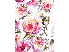 Fotobehang Papier Rozen | Roze, Paars | 184x254cm