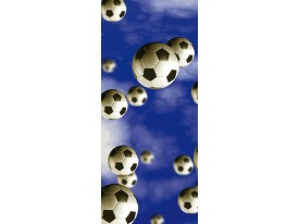 Deursticker Muursticker Voetbal | Blauw | 91x211cm