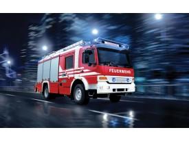 Fotobehang Vlies | Auto, Brandweer | Rood | 368x254cm (bxh)
