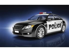 Fotobehang Politieauto | Zwart | 312x219cm