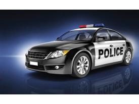 Fotobehang Vlies   Politieauto   Zwart   368x254cm (bxh)