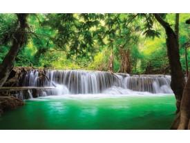 Fotobehang Natuur, Waterval | Groen | 416x254