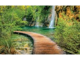 Fotobehang Natuur, Waterval | Groen | 152,5x104cm