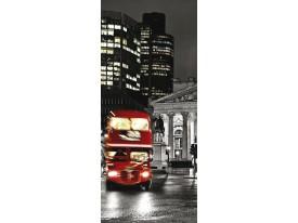 Deursticker Muursticker London, Steden | Rood | 91x211cm