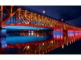 Fotobehang Vlies | Brug | Rood, Blauw | 368x254cm (bxh)