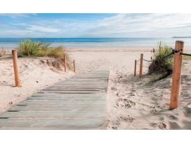 Fotobehang Vlies   Strand, Zee   Blauw   368x254cm (bxh)