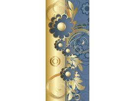 Deursticker Muursticker Klassiek | Goud, Blauw | 91x211cm