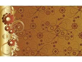 Fotobehang Papier Bloemen | Goud, Bruin | 254x184cm