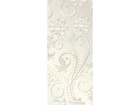 Deursticker Muursticker Bloemen | Zilver, Crème | 91x211cm