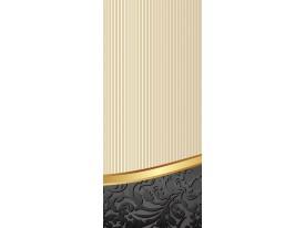 Deursticker Muursticker Bloemen | Goud, Grijs | 91x211cm