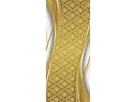Deursticker Muursticker Klassiek | Goud, Zilver | 91x211cm
