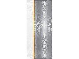 Deursticker Muursticker Klassiek | Zilver, Goud | 91x211cm