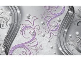 Fotobehang Modern | Zilver, Paars | 152,5x104cm