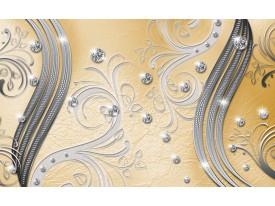 Fotobehang Papier Modern | Zilver, Geel | 254x184cm