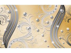 Fotobehang Vlies   Modern   Zilver, Geel   368x254cm (bxh)