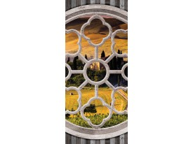 Deursticker Muursticker Natuur | Geel | 91x211cm
