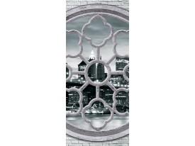 Deursticker Muursticker New York | Grijs | 91x211cm