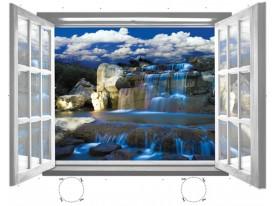 Fotobehang Waterval, Natuur | Blauw |