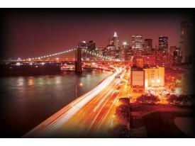 Fotobehang Vlies   New York   Oranje   368x254cm (bxh)