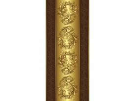 Deursticker Muursticker Klassiek | Goud, Bruin | 91x211cm