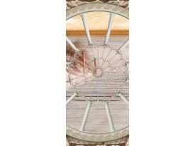 Deursticker Muursticker Strand | Crème | 91x211cm