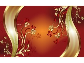 Fotobehang Klassiek, Bloemen   Oranje   208x146cm