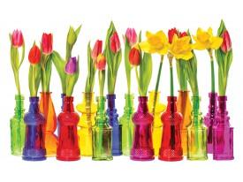 Fotobehang Papier Bloemen, Tulpen | Rood | 368x254cm
