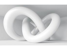 Fotobehang 3D, Modern   Wit   208x146cm