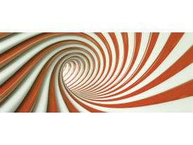 Fotobehang Design, Slaapkamer   Oranje   250x104cm