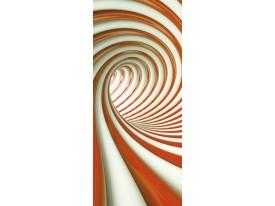 Deursticker Muursticker 3D, Design | Oranje | 91x211cm