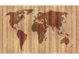 Fotobehang Wereldkaart | Bruin | 104x70,5cm