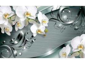 Fotobehang Vlies   Bloemen, Orchidee   Wit   368x254cm (bxh)