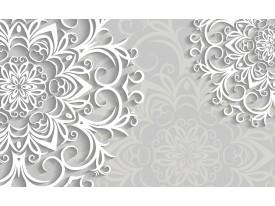 Fotobehang Vlies   Bloemen   Wit, Grijs   368x254cm (bxh)