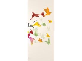 Deursticker Muursticker Abstract | Geel, Groen | 91x211cm