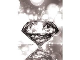 Fotobehang Papier Diamant, Steen | Grijs | 184x254cm