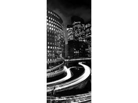 Fotobehang Steden | Zwart | 91x211cm