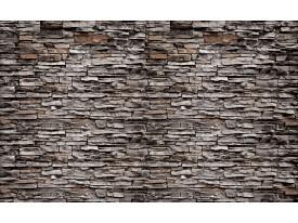 Fotobehang Papier Stenen, Muur | Bruin | 254x184cm