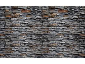 Fotobehang Stenen, Muur   Grijs   104x70,5cm