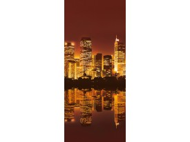 Deursticker Muursticker New York | Bruin | 91x211cm