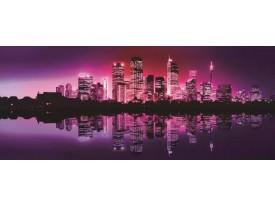 Fotobehang Skyline, Steden | Paars | 250x104cm