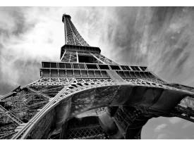 Fotobehang Eiffeltoren, Parijs | Grijs | 208x146cm