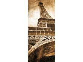 Fotobehang Eiffeltoren   Sepia   91x211cm